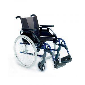 Silla de ruedas de acero plegable2